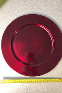 12 inch burgundy red charger plates set of 12 Toronto, M1R 1K9
