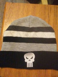 gray and black The Punisher knit cap Brantford, N3S 1Z5