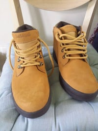 pair of brown Timberland work boots Rotterdam Junction, 12150