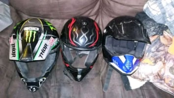3 motor cross helmets