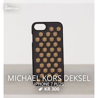 Svart og brun Michael Kors deksel iPhone 7 pluss