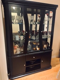 Dark wood Cabinet/Hutch Mississauga, L4Z 0C3