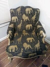 black and brown floral padded armchair Port Richey, 34668
