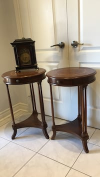 Two round brown wooden tables Vaughan, L4H 1C5