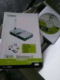 silver Linksys wireless-G print server box Cape Coral, 33990