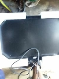 black flat screen monitor