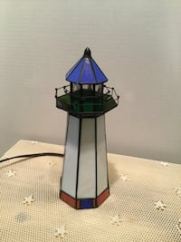 Stain Glass Light House Lamp  Perfect condition  10.5 inches Tall  Riverside, 92506