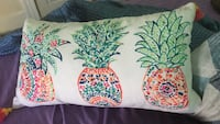 white, green, and red floral throw pillow Worcester, 01605