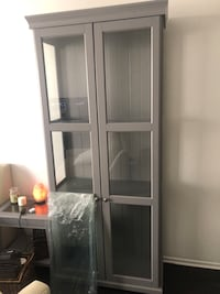 white wooden framed glass display cabinet Los Angeles, 90036