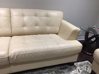 100% leather sofa, love seat, 3 pcs coffee tables, 9 by 6.5ft Turkish rug at Vaughan  Vaughan, L4H