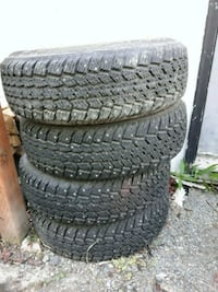 tires 205/70R15 set of 4 studded, like new Anchorage, 99515