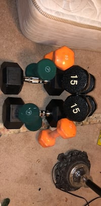 two pairs of black and red dumbbells Mc Lean, 22102