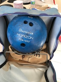 Blue and black bowling ball College Station, 77845