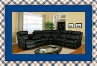 Cshape sectional black leather free shipping Ashburn, 20147