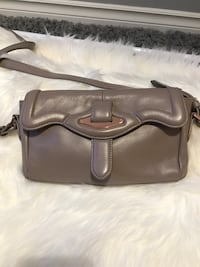 Danier leather tan crossbody purse with rose gold hardware  Surrey, V4N 5H5