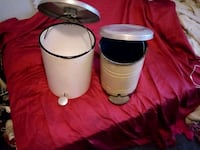 two white ceramic candle holders Louisville, 40258