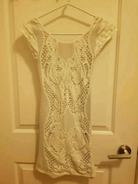 Bebe White Dress Tag On