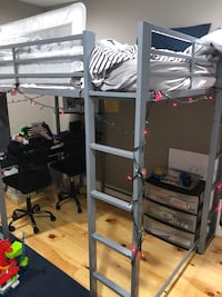 Loft style full size bunk bed