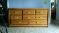 brown wooden 6-drawer lowboy dresser Roseville, 48066
