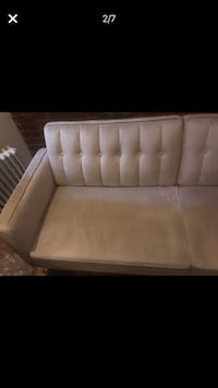 Like new(3wkuse) tufted tan velvet sofabed New York, 10128