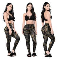 Camouflage Thin Leggings L  Burnaby
