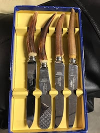 brown and silver tusk knife set Vaughan, L6A 4B4