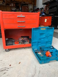 Rolling Tool Bench & Tools