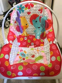 baby's pink and blue bouncer Port Coquitlam, V3C 3A2