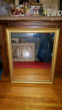brown wooden framed glass cabinet Toronto, M3H