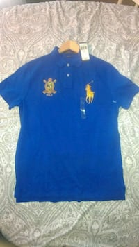 Men's New Blue Ralph Lauren Polo Shirt