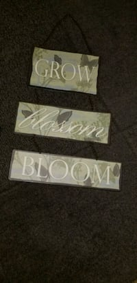 Metal grow blossom bloom hanging chain link wall decoration