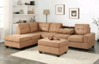 Heights Taupe Reversible Sectional with Storage Ot 1212 mi