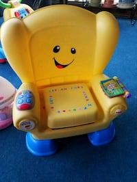 yellow Fisher-Price Laugh and Learn Smart Stages chair 62 mi