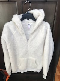 Justice Brand fluffy, soft pullover jacket size 20 Madison, 35758
