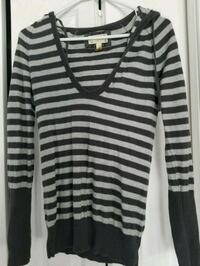 black and white striped long-sleeved shirt Calgary, T3M 0J1