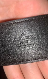 Louis Vuitton Virgil collection belt black