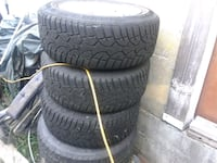 3 5bolt rims with 215.60.r16 rubber Langley, V3A 1M1