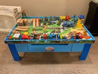 Thomas the train table and lot of trains and accessories Colonie, 12205