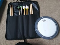Percussion Sticks and Practice Pad Springfield, 22152
