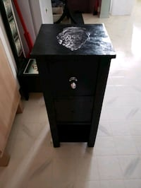 Wooden side table with three drawers Edmonton, T5B 1L7