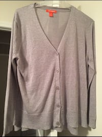 EUC Joe Fresh Silver Cardigan - Medium