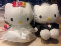 "Kello kitty bride and groom 8"" tall"