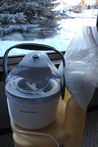 Ice cream maker and salt