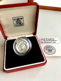 1986 UK Royal Mint Sterling Silver Proof £1/ Pound Coin-Piedfort Calgary, T2R 1K6