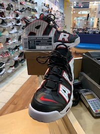 Nike Air More Uptempo Pinstripe Size 10.5 Silver Spring, 20902