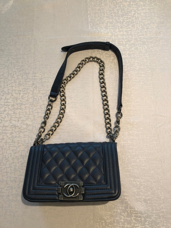 b3195941dbb2 Used Quilted blue chanel leather crossbody bag for sale in Toronto ...