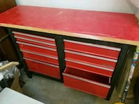 Craftsman toolbox base with thick wooden board top Fairfax, 22030