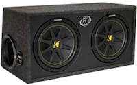 """2 12"""" kicker competition subs in box"""