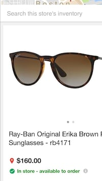 Ray Ban RB4221 high street Erika sunglass unisex !!! Authentic made in Italy !! Mint like new condition !! Revere, 02151
