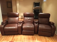 Leather Lazy boy recliners (movie theatre style seating) Toronto, M9R